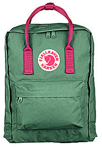 d7186c06578a Fjallraven Kanken Classic Daypack in Frost Green-Peach Pink ...