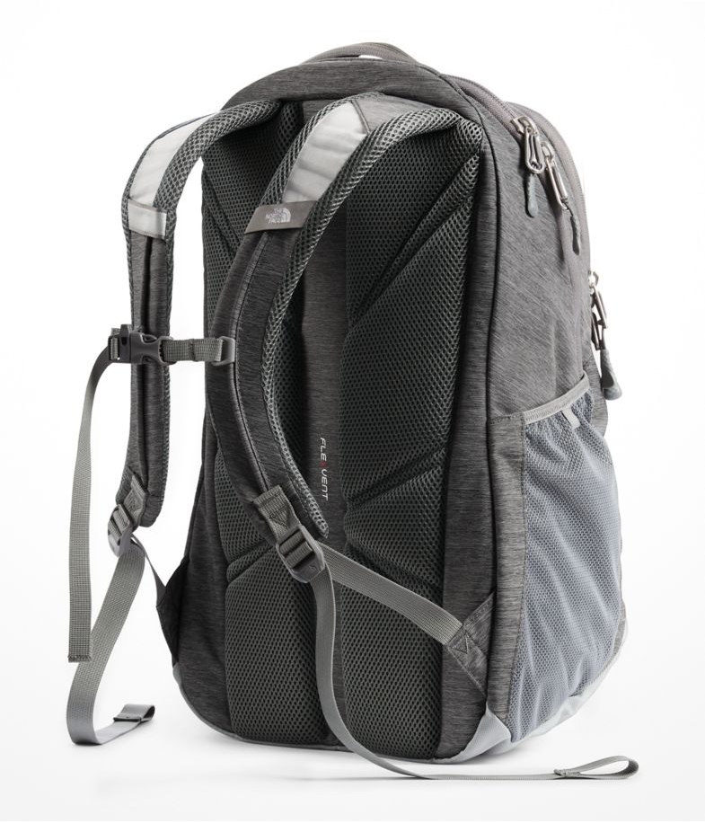 The North Face Women s Jester Backpack in Zinc Grey Light Heather Kokomo  Green f7eaf4f597d97