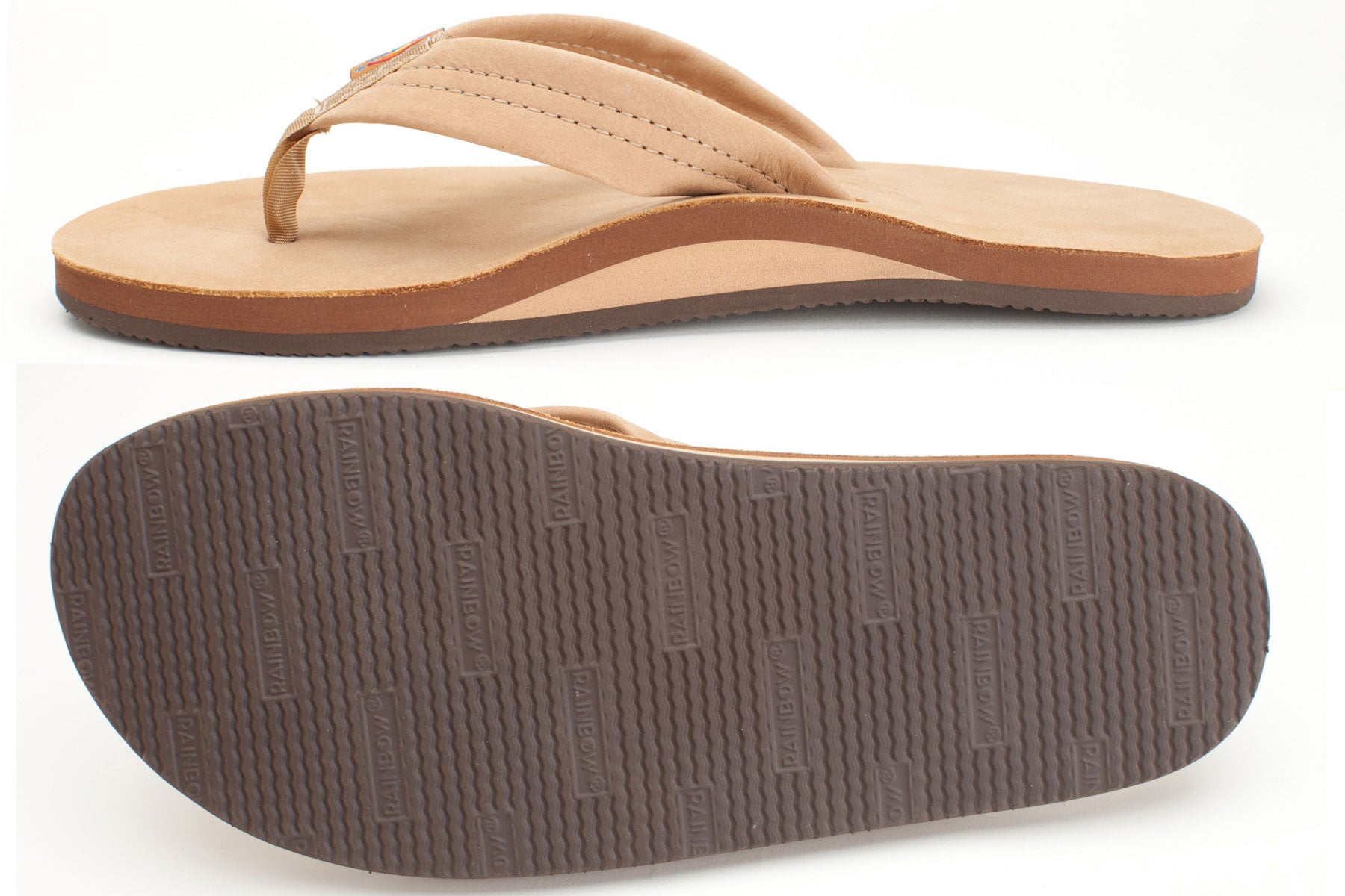 bed383b2945c Rainbow Sandals Men s Sierra Brown Premier Leather Single Layer with Arch  Support