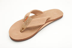 Rainbow Sandals Women's Sierra Brown Premier Leather Single Layer with Arch Support and a Wide Strap