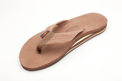Rainbow Sandals Men's Dark Brown Premier Leather Double Layer with Arch Support