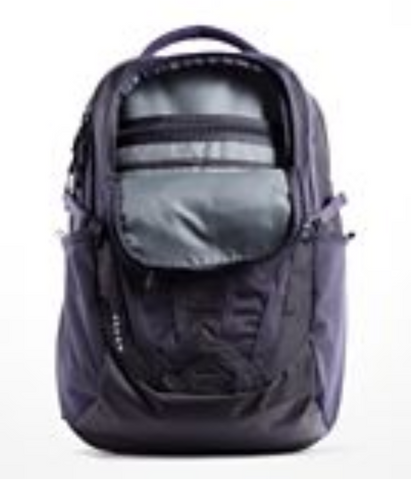 The North Face Women's Recon Backpack in Zinc Grey Light Heather/Kokomo Green