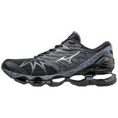Mizuno Men's Wave Prophecy 7 in Black-SIlver