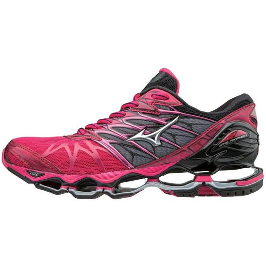 Mizuno Women's Wave Prophecy 7 in Bright Rose-Silver