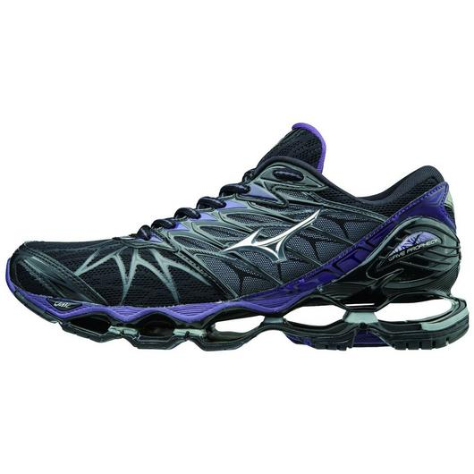 Mizuno Women's Wave Prophecy 7 in Black-Silver