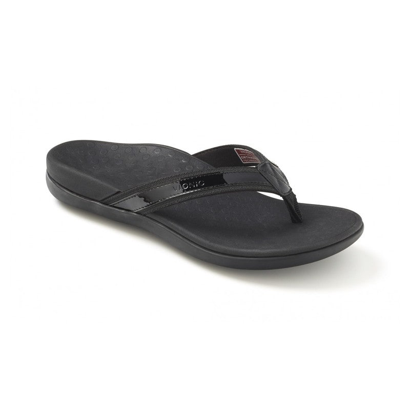 Vionic Women's Tide II Toepost Sandal in Black