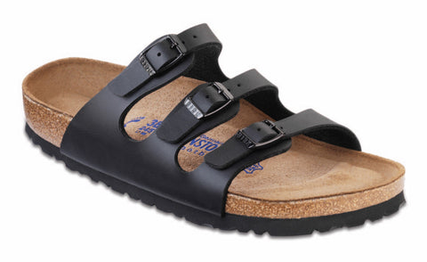 Birkenstocks Women's Florida Birko Flor Sandals in Black