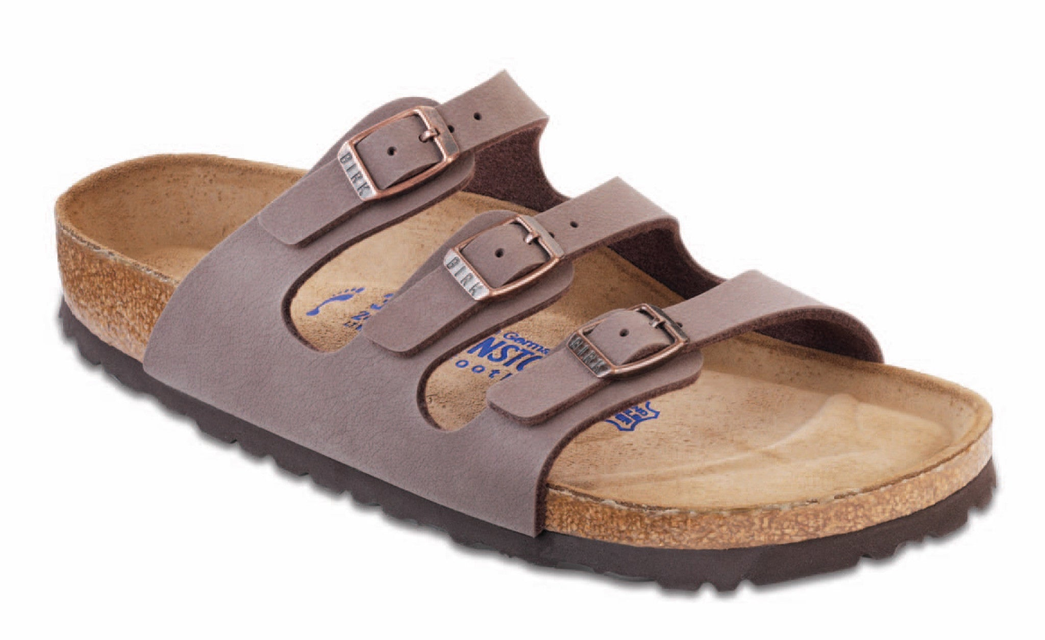 Birkenstock Women's Florida Soft Foot Bed BirkiBuc in Mocha