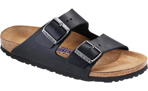 Birkenstock Women's Arizona Soft Footbed Black Oil Leather