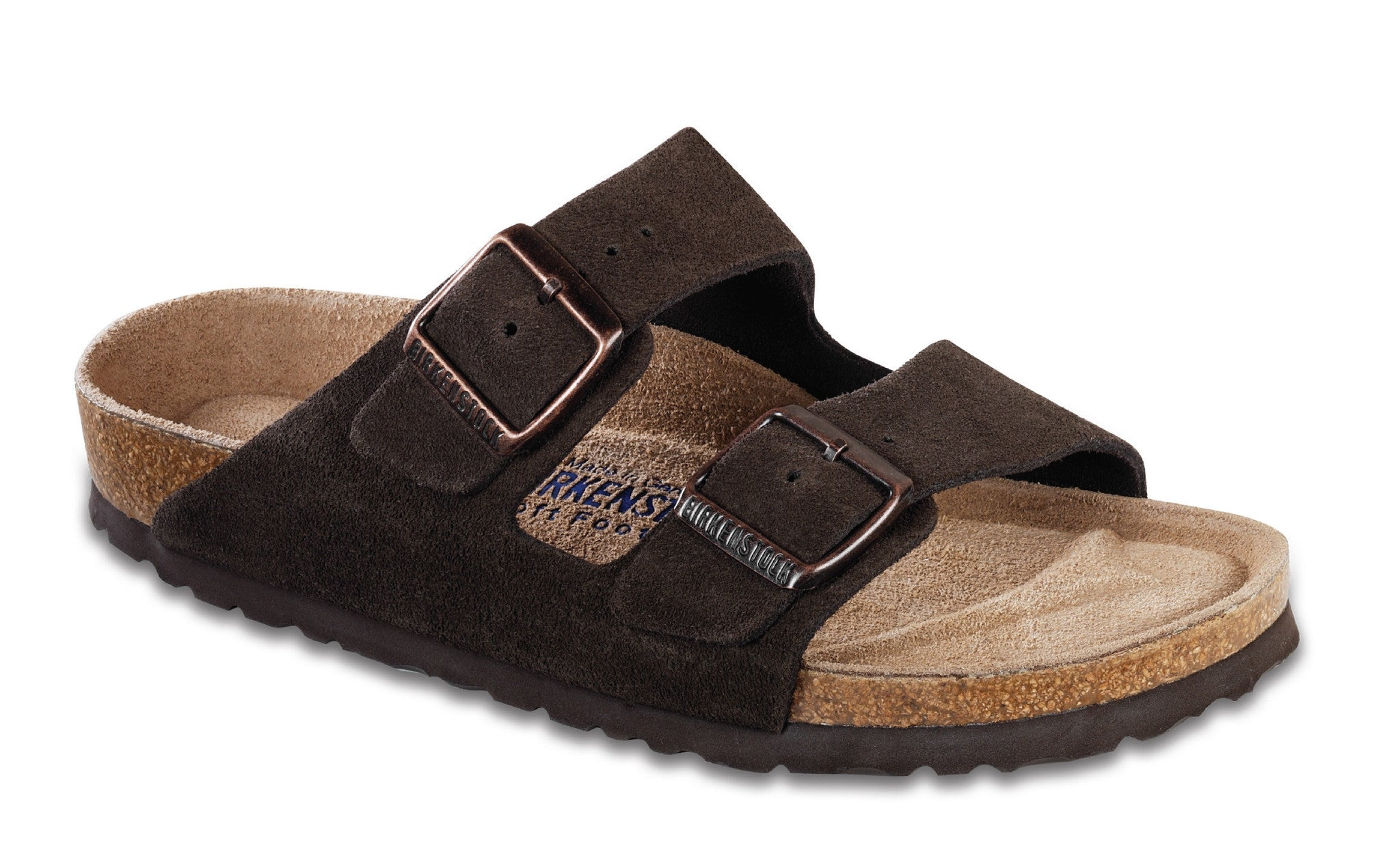 Birkenstock Women's Arizona Mocha Suede Soft Footbed Regular