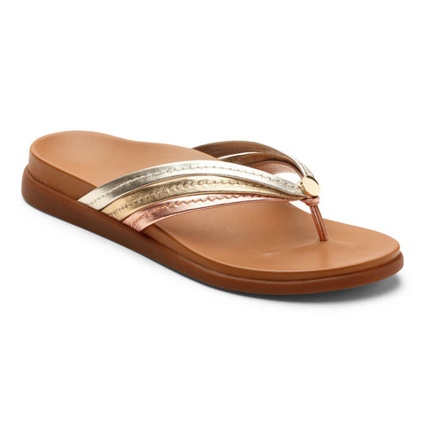 Vionic Women's Palm Catalina Toepost in Mixed Metallic