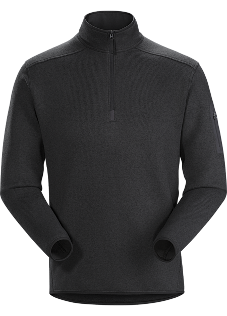 Arc'teryx Men's Covert 1/2 Zip Neck in Black Heather