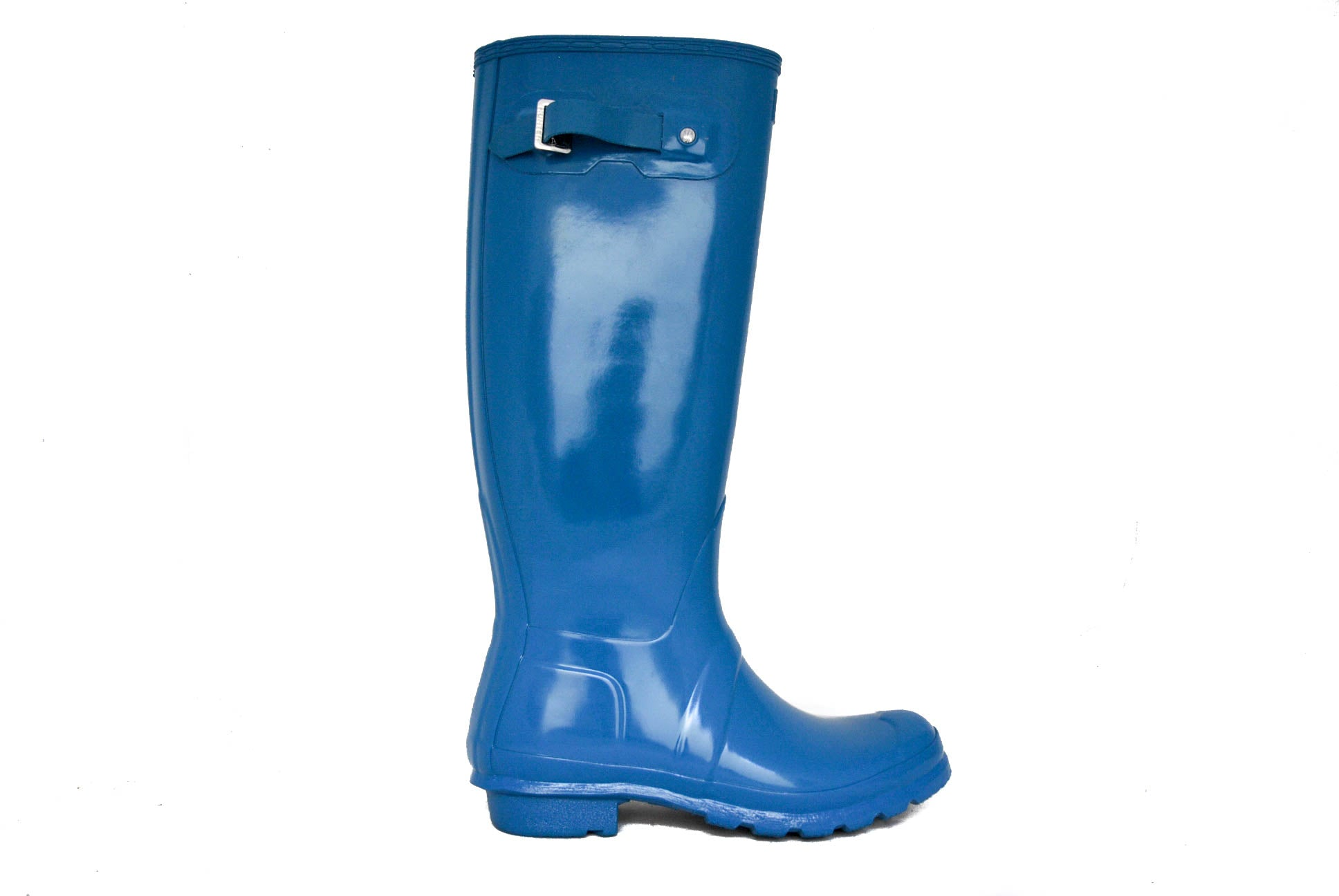Hunter Women's Original Tall Gloss Rain Boot in Ocean Blue