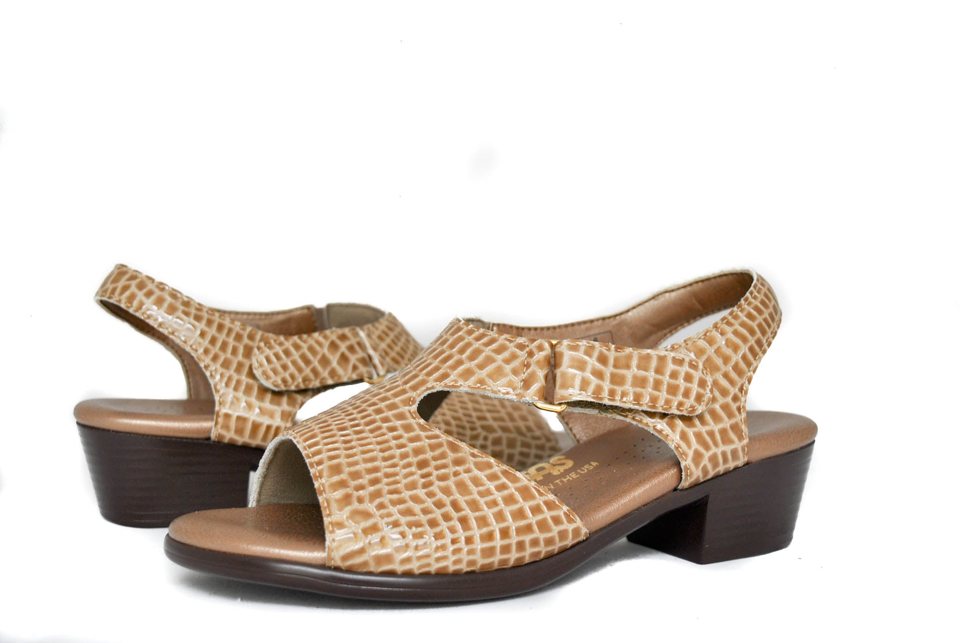 SAS Women's Suntimer in Beige Croc Wide
