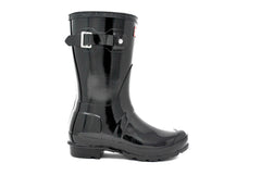Hunter Women's Original Tall Gloss Rain Boot in Black