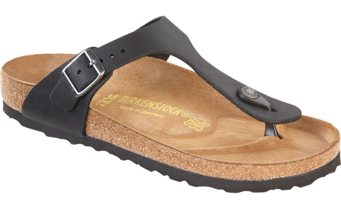 Birkenstock Women's Gizeh Oiled Leather in Black