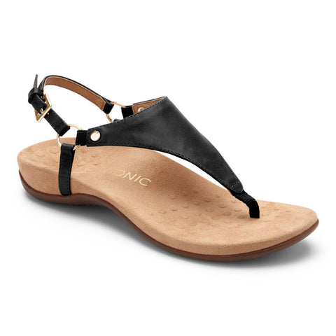 Vionic Women's Rest Kirra Toepost Sandal in Black