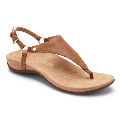 Vionic Women's Rest Kirra Toepost Sandal in Brown