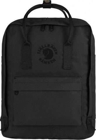 Fjallraven Re-Kanken Backpack in Black