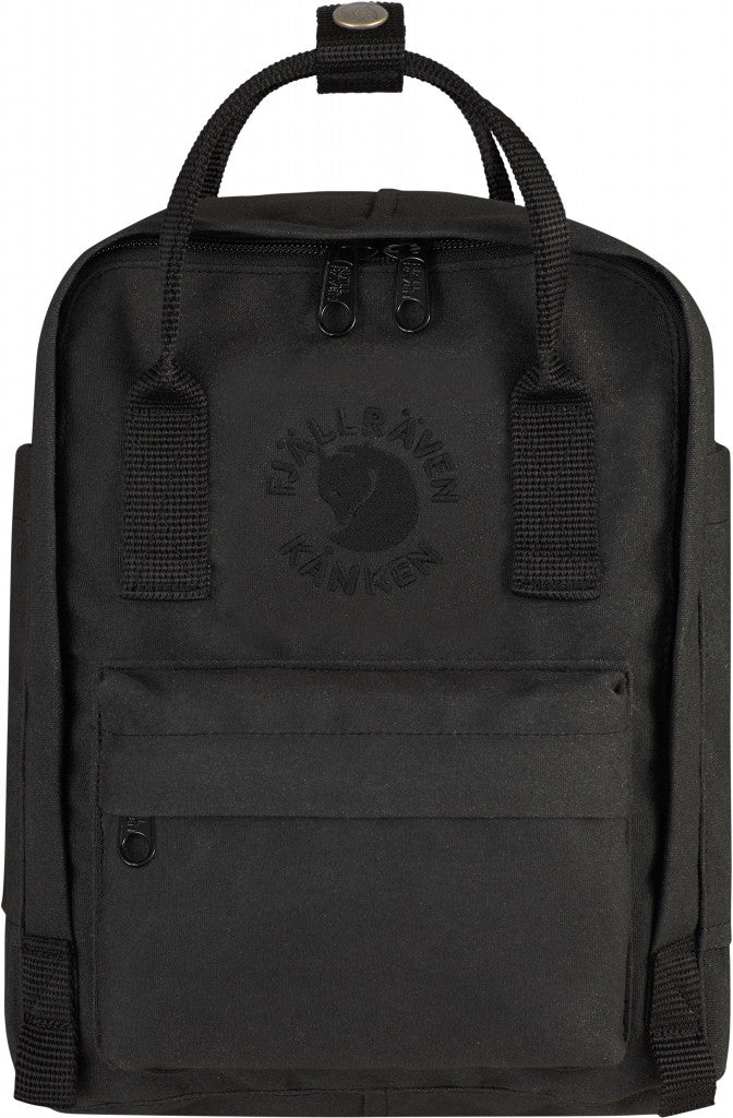 Fjallraven Re-Kanken Mini Backpack in Black