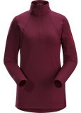 Arc'teryx Women's Rho LT Hooded Zip Neck in Merbau