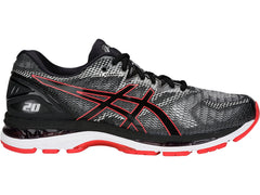 Asics Men's GEL-Nimbus 20 in Black/Red Alert