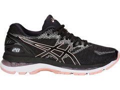 Asics Women's GEL-Nimbus 20 in Black/Frosted Rose