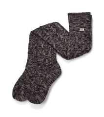 UGG Australia Women's Classic Cable Knit Sock in Charcoal Heather