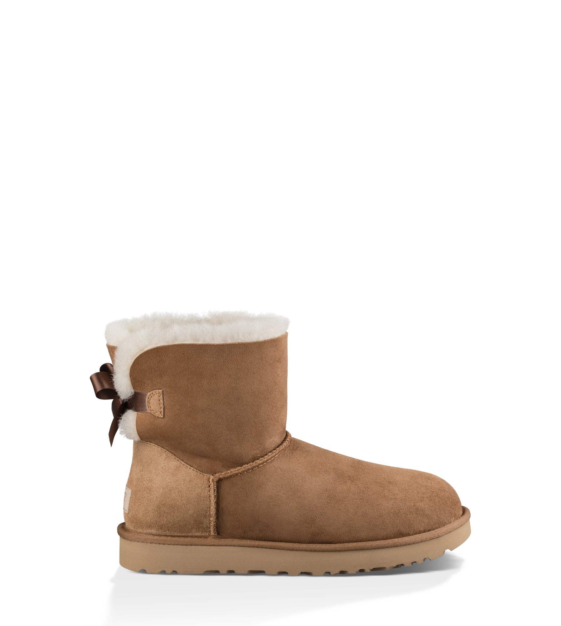 UGG Australia Women's Mini Bailey Bow II in Chestnut