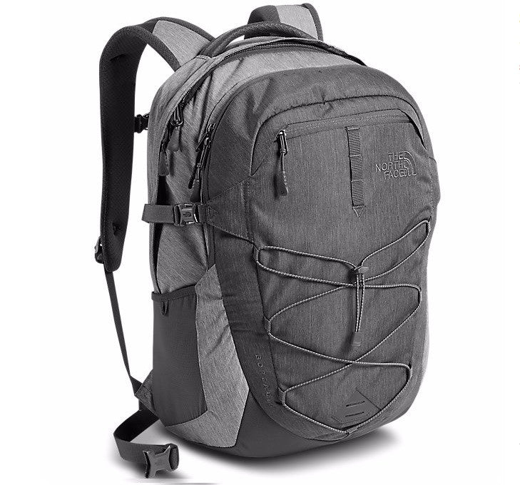 The North Face Men's Borealis Backpack in TNF Dark Grey Heather/Medium Grey Heather
