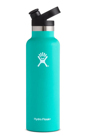 Hydro Flask 21 oz  Standard Mouth with Sport Cap in Mint