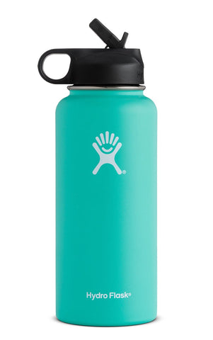Hydro Flask 32 oz Wide Mouth with Straw Lid in Mint