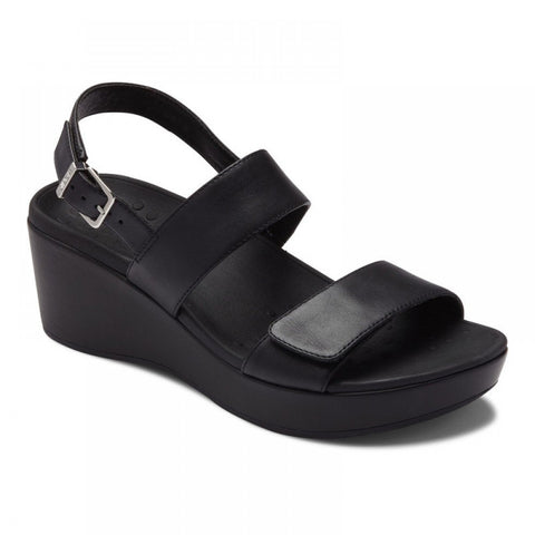 Vionic Women's Lovell Wedge Sandal in Black