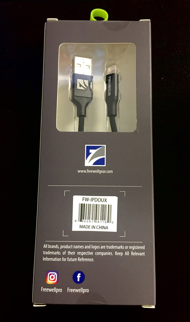"Freewell Doux 17"" Lightning Cable for Apple Products"