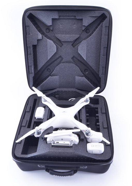 InsPak, DJI Phantom 4 EVA Hardshell Backpack, Carbon Fiber Look, Props On - Carolina Dronz - 1