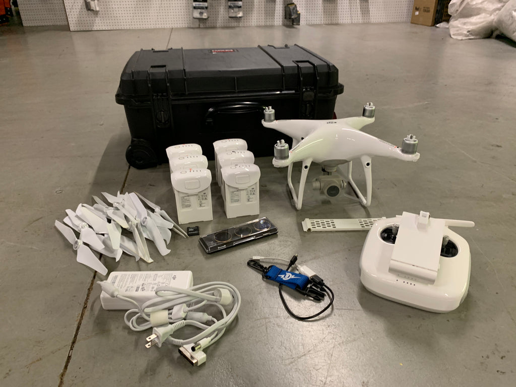 Pre-Owned DJI Phantom 4 Pro With 6 Batteries and Hard Case