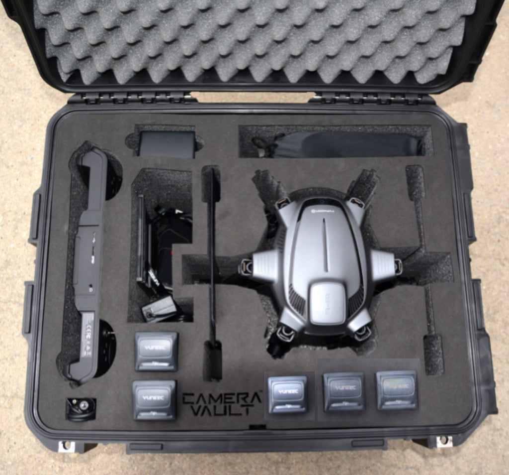Camera Vault Yuneec Typhoon H Rolling Case,  Black Foam - Carolina Dronz - 1