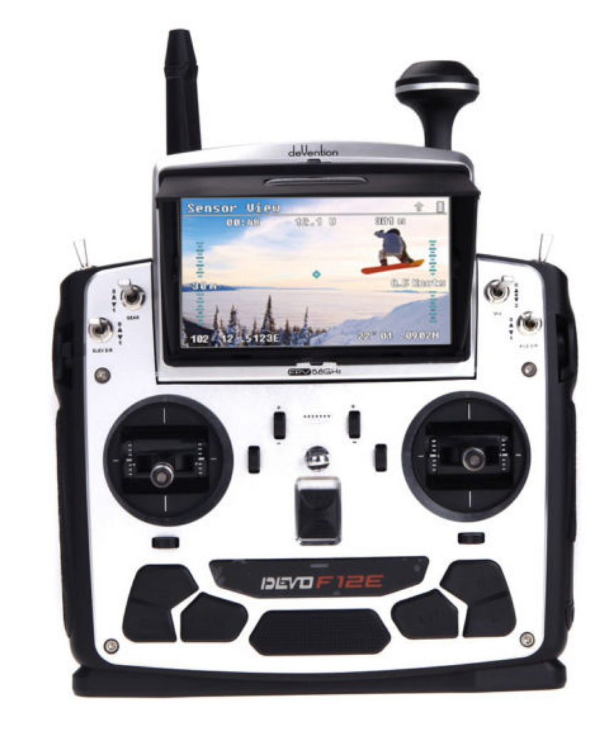 Walkera DEVO F12E 12-Channel 2.4Ghz Digital Radio System w/ FPV Monitor - Carolina Dronz - 2