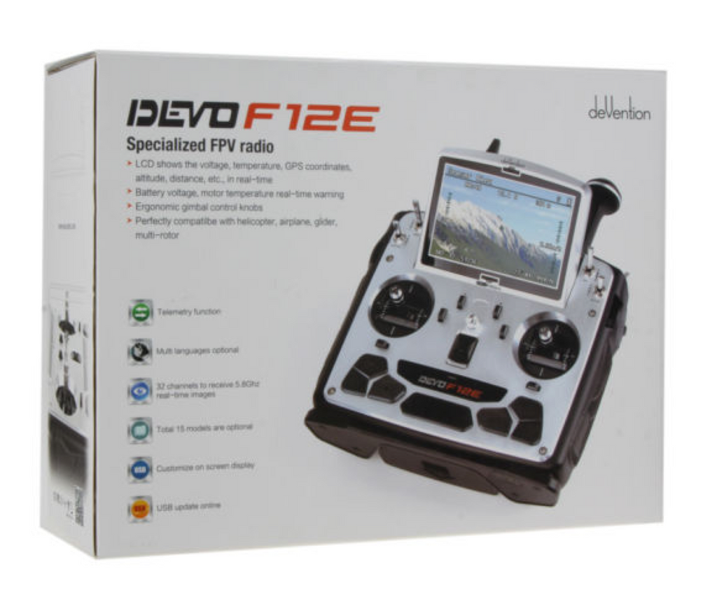 Walkera DEVO F12E 12-Channel 2.4Ghz Digital Radio System w/ FPV Monitor - Carolina Dronz - 4