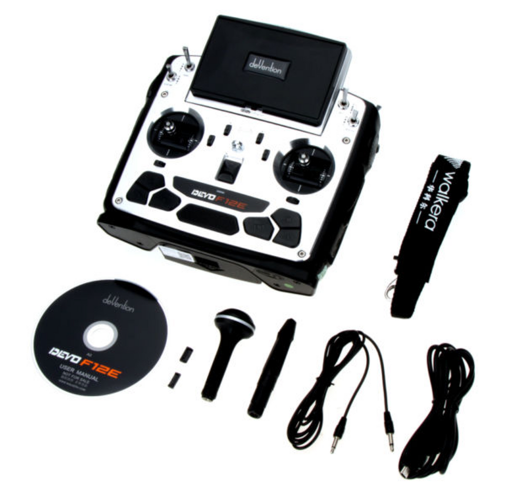 Walkera DEVO F12E 12-Channel 2.4Ghz Digital Radio System w/ FPV Monitor - Carolina Dronz - 3