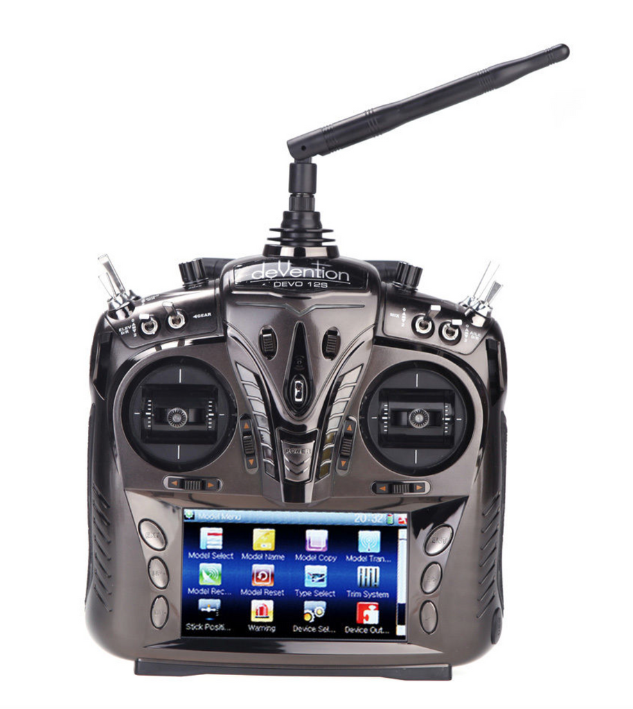 Walkera DEVO 12S Touch Screen LCD Transmitter w/RX1202 & Aluminum Case - Carolina Dronz - 1