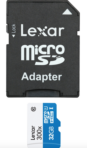 Lexar High Performance 32 GB microSD High Capacity (microSDHC) - Class 10/UHS-I - 45 MBps Read - 1 Card - 300x Memory Speed - Carolina Dronz