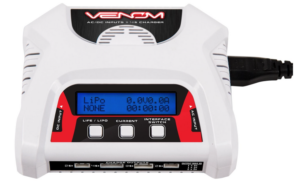 Venom 2-4 Cell AC/DC Dual LiPO Battery Balance Charger - Carolina Dronz - 1