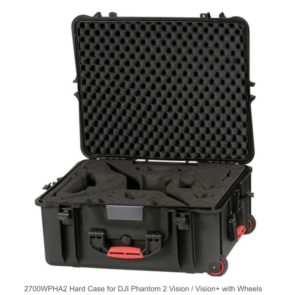 HPRC Hard Case for DJI Phantom 1/2 Vision / Vision+ with Wheels - Carolina Dronz - 1