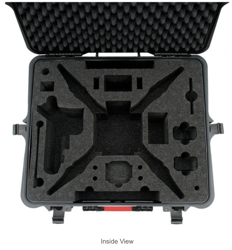 HPRC Hard Case for DJI Phantom 1/2 Vision / Vision+ with Wheels - Carolina Dronz - 6