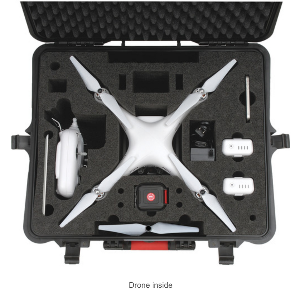 HPRC Hard Case for DJI Phantom 1/2 Vision / Vision+ with Wheels - Carolina Dronz - 3