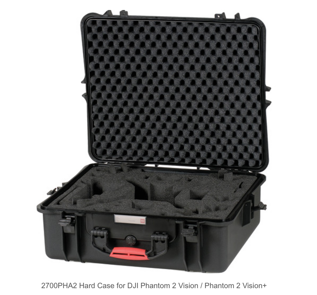HPRC 2700PHA2 Hard Case for DJI Phantom 2 Vision / Phantom 2 Vision+ - Carolina Dronz - 1
