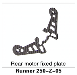 Walkera Runner 250 Rear Motor Fixed Plate - Carolina Dronz - 1