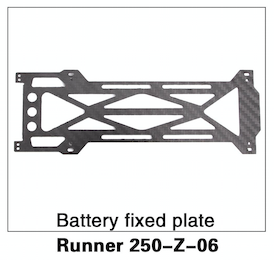 Walkera 250 Battery Fixed Plate - Carolina Dronz - 1