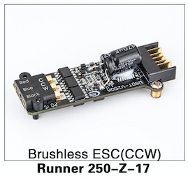Walkera Runner 250 Brushless ESC (CCW) - Carolina Dronz - 1